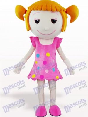 Costume de mascotte adulte de bande dessinée de cheveux solides fille