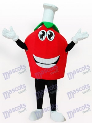 Costume de mascotte de fruits courts aux fraises rouges