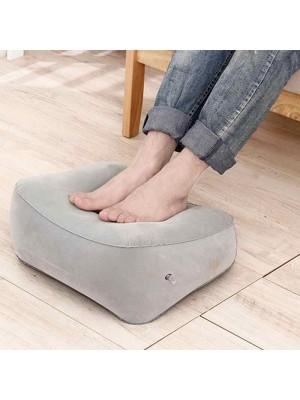 PVC Gonflable Portable Voyage Bureau Repose pieds Oreiller Relaxant