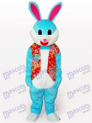 Costume de mascotte adulte en peluche lapin de Pâques coloré