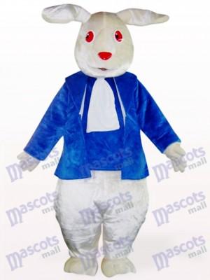 Déguisement de mascotte de lapin de vêtements rouges yeux rouges de Pâques