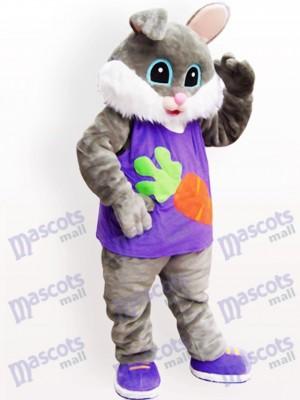 Costume de mascotte adulte de lapin de radis de Pâques