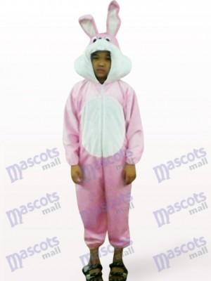 Costume de mascotte animale de lapin rose ouvert de Pâques de Pâques
