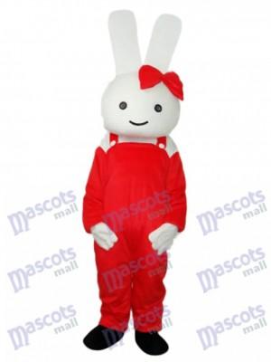 Costume adulte rouge de Pâques lapin mascotte de lapin Animal