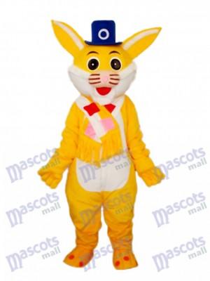 Déguisement de mascotte de lapin jaune de Pâques Animal