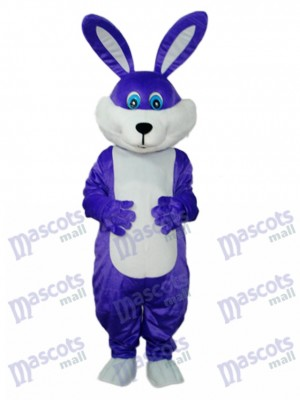 Costume adulte de mascotte de lapin pourpre de Pâques Animal