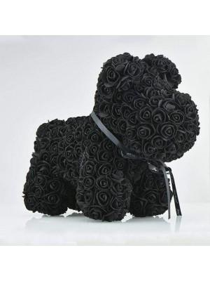 Noir Rose Chiot Chien Fleur Chiot Chien Meilleur cadeau pour la fête des mères, la Saint-Valentin, les anniversaires, les mariages et les anniversaires