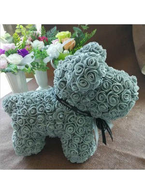 Bleu clair Rose Chiot Chien Fleur Chiot Chien Meilleur cadeau pour la fête des mères, la Saint-Valentin, les anniversaires, les mariages et les anniversaires
