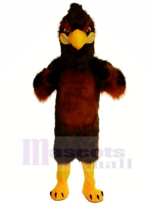 Majestueux marron faucon Mascotte Les costumes Dessin animé