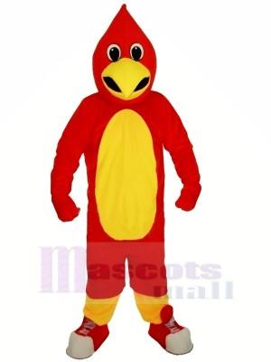 rouge Route Coureur Mascotte Les costumes Dessin anim