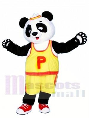 T-shirt jaune Panda Costume de mascotte