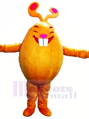 Orange lapin Monstre Mascotte Les costumes Dessin animé