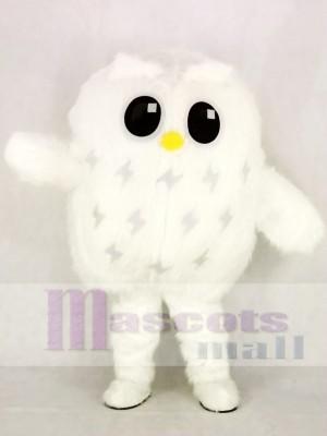 Mignonne blanc Hibou Mascotte Costume École