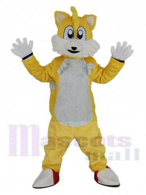 Miles Prower Tails Renard Sonic the Hedgehog Mascotte Costume
