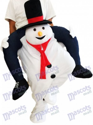 Costume de mascotte Snowman Piggyback Snowman Carry Me Ride
