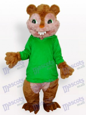 Costume de mascotte adulte vert écureuil animal