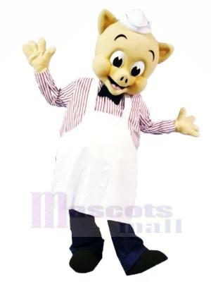 Haute Qualité Chef Porc Mascotte Les costumes Dessin animé