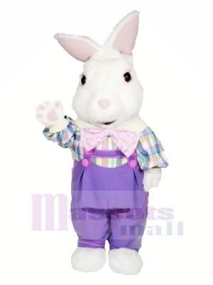 Flou lapin avec Violet Costume Mascotte Les costumes Dessin animé