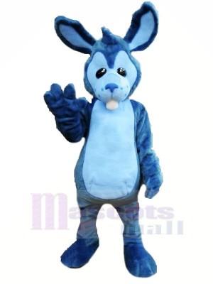 Haute Qualité Bleu lapin Mascotte Les costumes Dessin animé