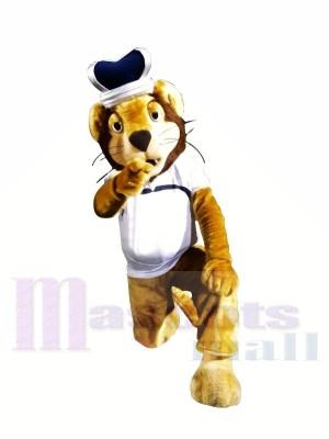 Roi Lion avec Longue barbe Mascotte Les costumes Animal