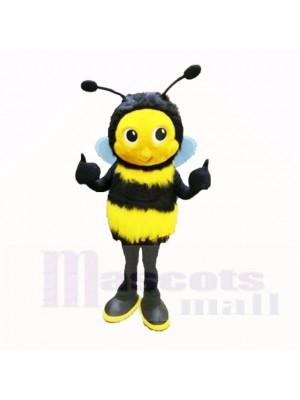 Duveteux abeille avec Gros Les yeux Costumes De Mascotte Dessin animé