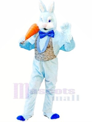 Bleu lapin Adulte Mascotte Les costumes Animal