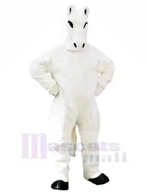 blanc Cheval Mascotte Les costumes Adulte