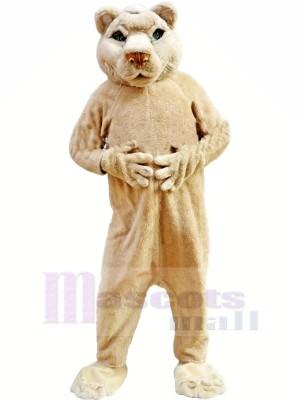 Tan Lion Mascotte Les costumes Adulte