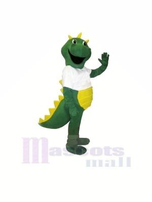 Heureux vert Dragon Mascotte Les costumes