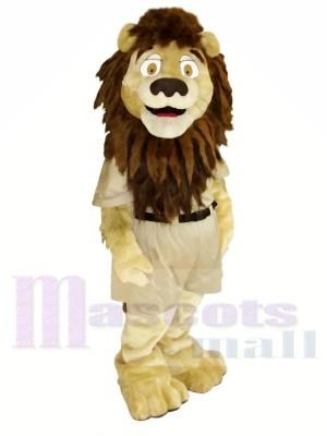 Fort marron Lion Mascotte Les costumes Animal