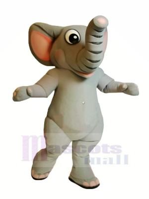réaliste gris éléphant mascotte costumes dessin animé