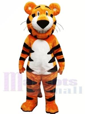 Tigre animal léger heureux Costumes De Mascotte