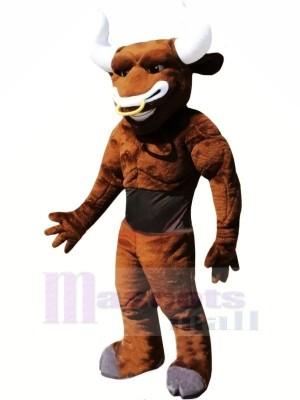 Poids léger marron Taureau Mascotte Les costumes Adulte
