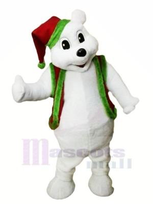 Noël Ours avec rouge Chapeau Mascotte Les costumes Animal