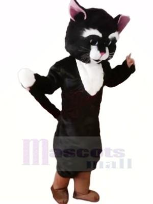 Charmant Noir Chat Mascotte Les costumes Dessin animé
