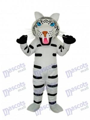 Noir et blanc Mascotte de tigre Costume adulte Animal