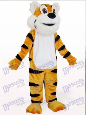 Costume de mascotte animal tigre orange