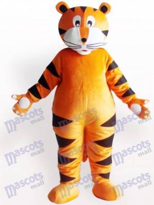 Costume de tigre avec griffe blanche animal adulte mascotte