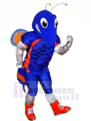 Bleu Frelon avec Gros Les yeux Mascotte Les costumes Dessin animé