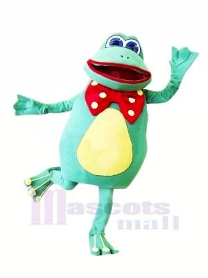 Heureux Femelle La grenouille Mascotte Les costumes Dessin animé