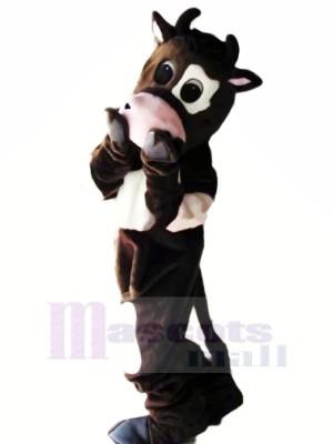 Timide Vache Mascotte Les costumes Dessin animé
