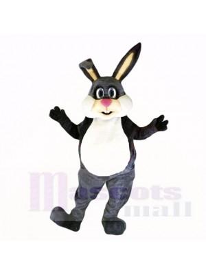gris Amical Poids léger lapin Costumes De Mascotte Dessin animé