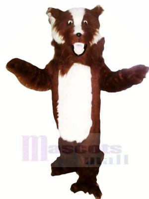 Féroce marron et blanc Blaireau Mascotte Les costumes Adulte