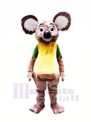 Heureux Koala avec Gros Oreilles Mascotte Les costumes Pas cher