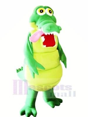 Heureux Alligator Mascotte Les costumes Dessin animé