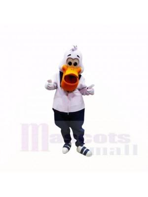 sport Pélican avec blanc vêtements Costumes De Mascotte Dessin animé