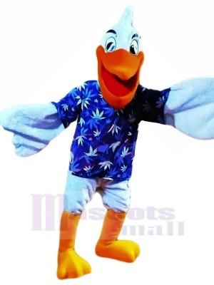 Heureux Bleu Pélican Mascotte Les costumes Pas cher