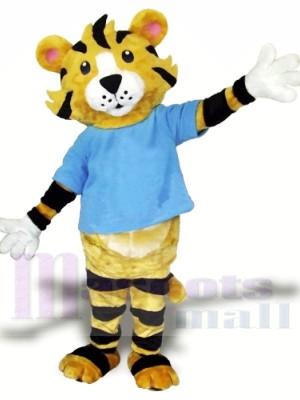 École secondaire tigre Costume de mascotte Livraison gratuite