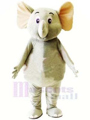 Peu Mignonne Gris l'éléphant Mascotte Les costumes Dessin animé