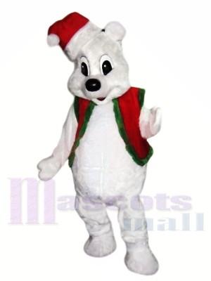 Noël ours blanc Costumes De Mascotte